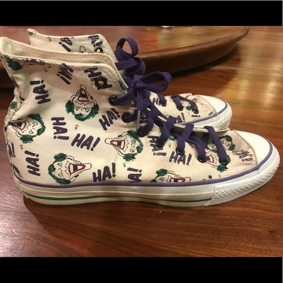 Details about Converse The Joker Shoes Men's 8.5 Batman DC Comics Chuck Taylor Vintage 1989